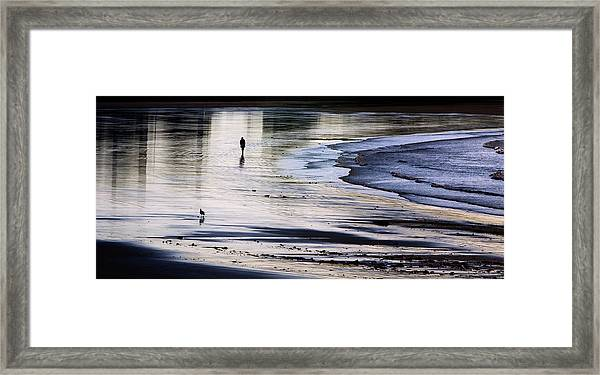 Sharing The Morning Framed Print
