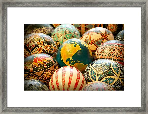 Shari's Ostrich Eggs Framed Print