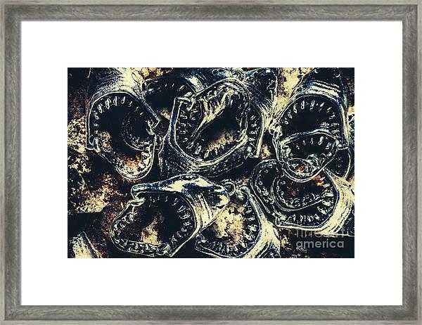 Shark Jaws Framed Print