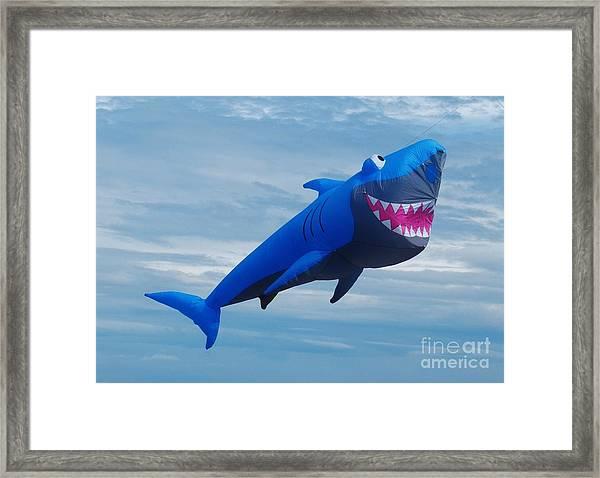 Shark Kite Flight Framed Print