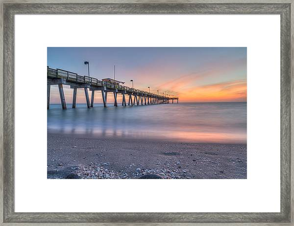 Sharky's On The Pier Framed Print