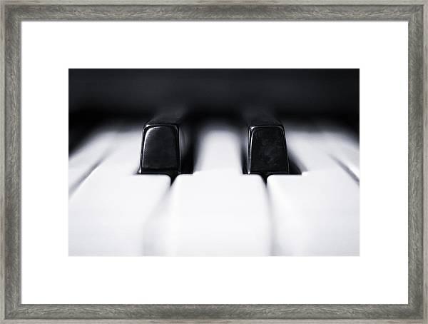 Sharp Or Flat Framed Print