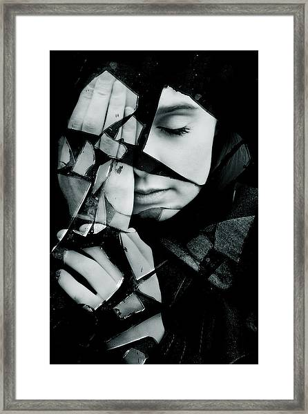Shattered Framed Print by Cambion Art