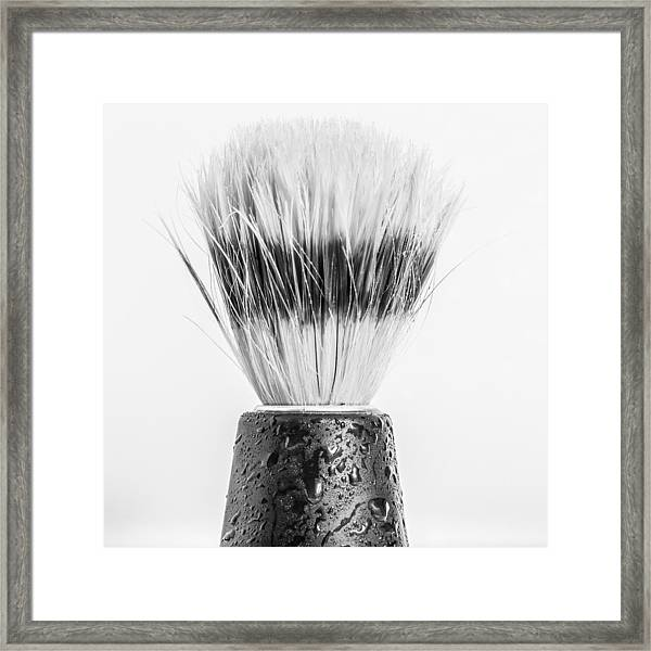 Shaving Brush Framed Print