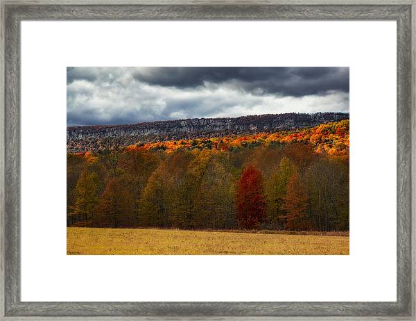 Shawangunk Mountains Hudson Valley Ny Framed Print