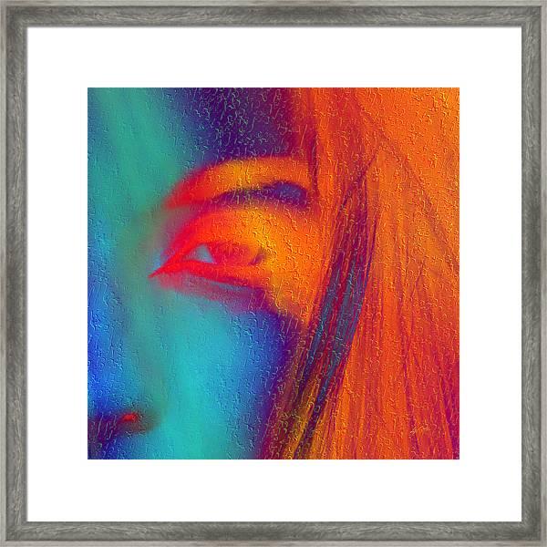 She Awakes Framed Print
