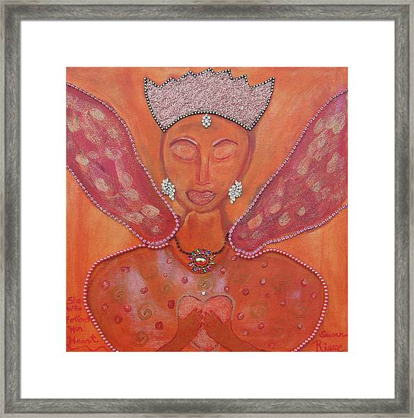She Who Follows Her Heart Framed Print by Susan Risse