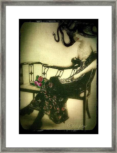 She Wore An Octopus On Her Head For A Hat Framed Print