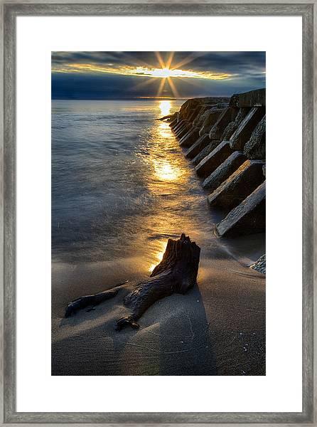 Sheboygan Jetty 2 Framed Print