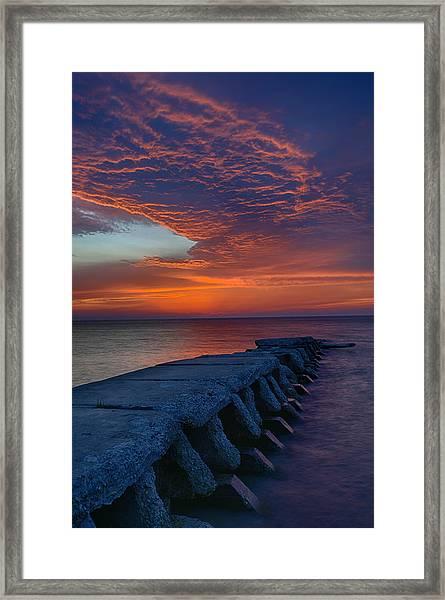 Sheboygan Jetty 3 Framed Print