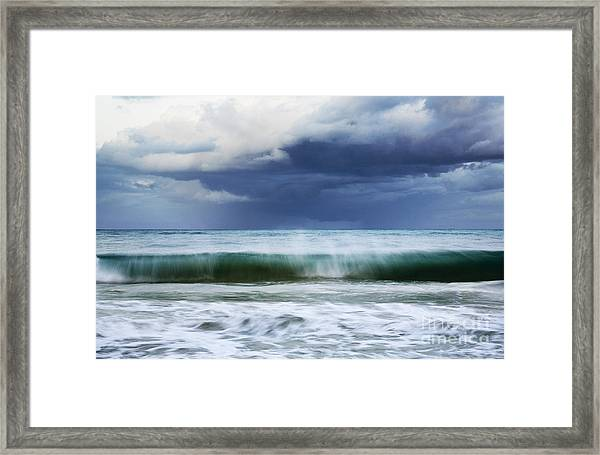 Sheer Wave Framed Print
