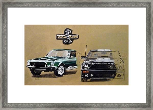 Shelby 40th Anniversary Framed Print