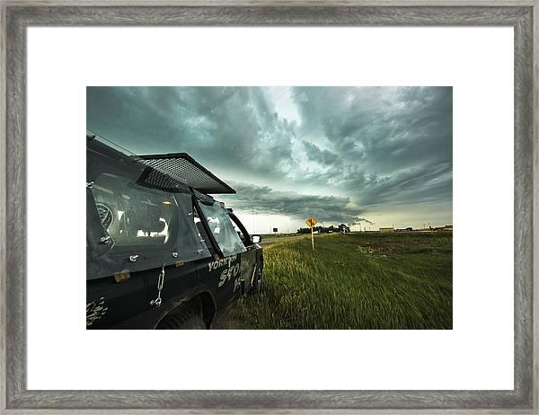 Shelf Cloud Near Vibank Sk. Framed Print