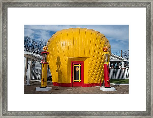 Shell Gas Station Framed Print