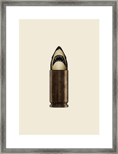 Shell Shark Framed Print
