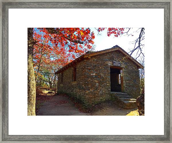 Blood Mountain Shelter Framed Print