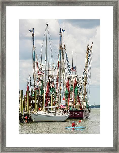 Shem Creek Sunday Framed Print
