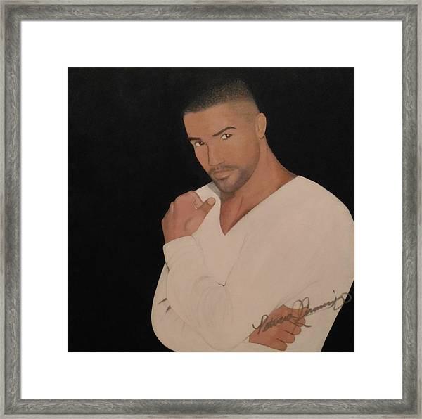 Shemar Moore Framed Print