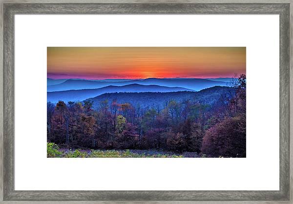 Shenandoah Valley Sunset Framed Print
