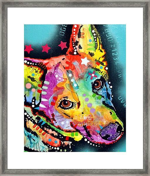 Shep Framed Print