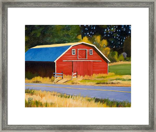 Sherman Barn Framed Print by Stacey Neumiller