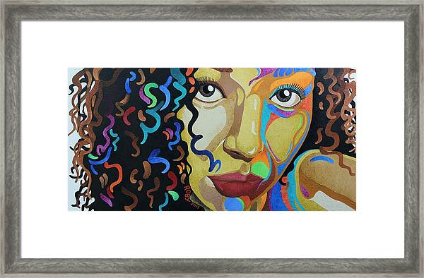 She's Complicated Framed Print