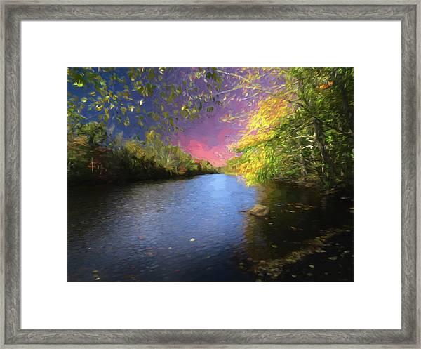 Shetucket River Ct. Framed Print