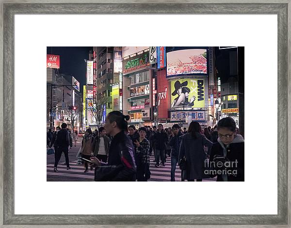 Shibuya Crossing, Tokyo Japan 3 Framed Print