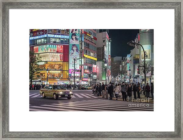 Shibuya Crossing, Tokyo Japan Framed Print