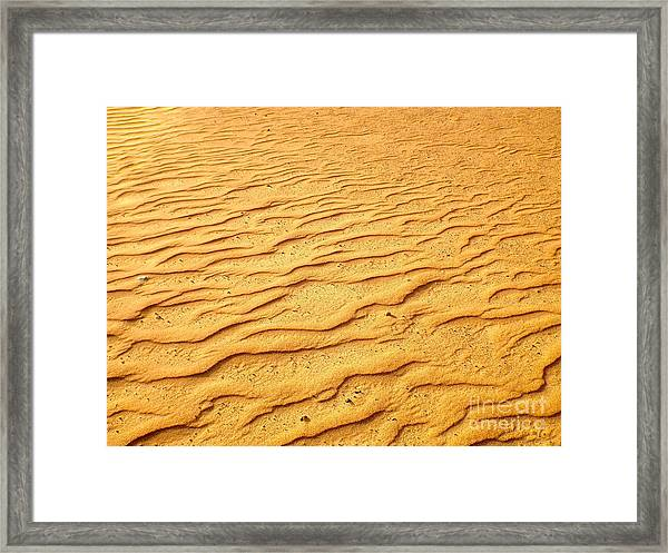 Framed Print featuring the photograph Shifting Sands by Barbara Von Pagel