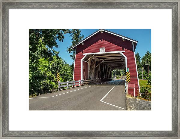 Shimanek Covered Bridge Framed Print