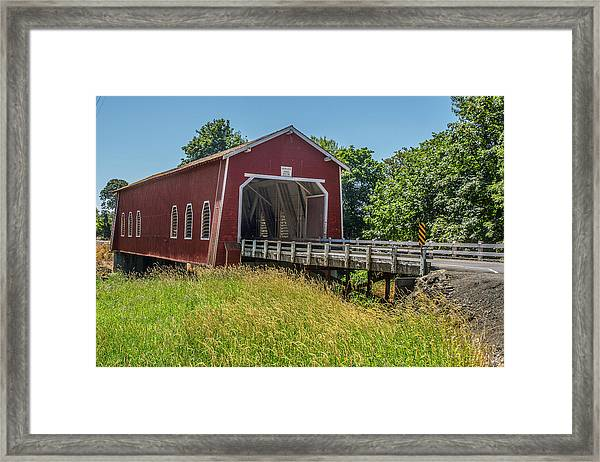 Shimanek Covered Bridge No. 2 Framed Print