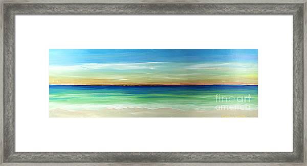 Shimmering Sunset Framed Print
