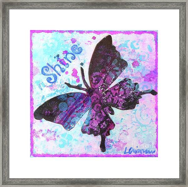 Shine Butterfly Framed Print