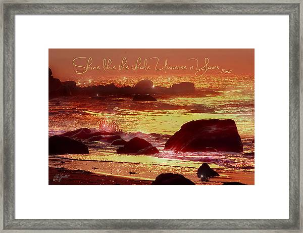Shine Like The Universe  Framed Print