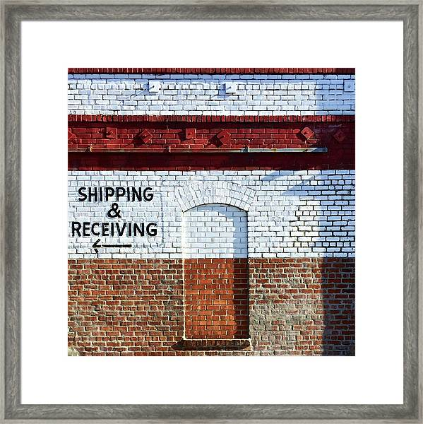 Shipping And Receiving  Framed Print