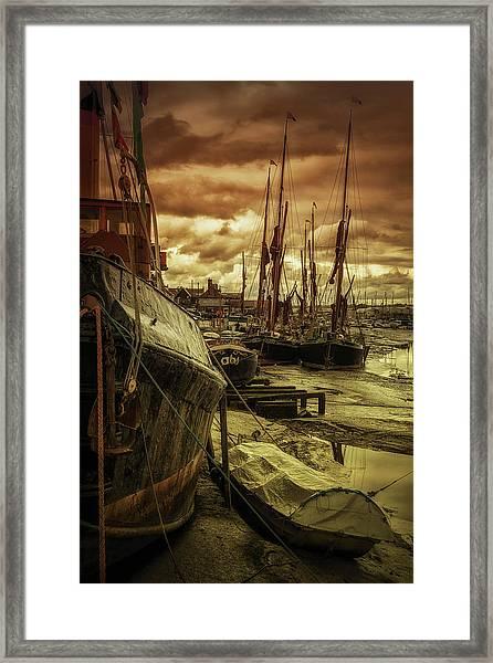 Ships From Essex Maldon Estuary Framed Print