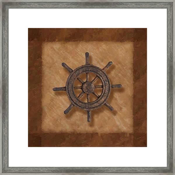 Ship's Wheel Framed Print