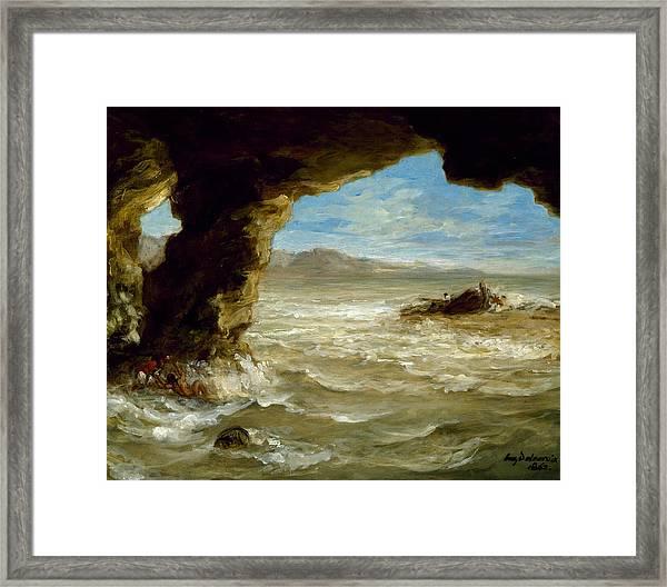 Shipwreck On The Coast  Framed Print