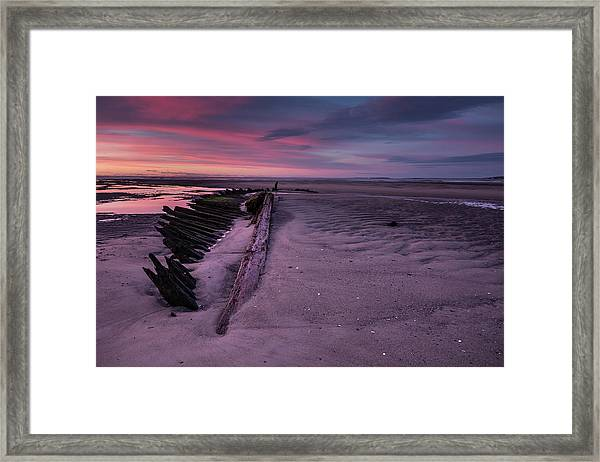 Shipwreck Sunrise  Framed Print