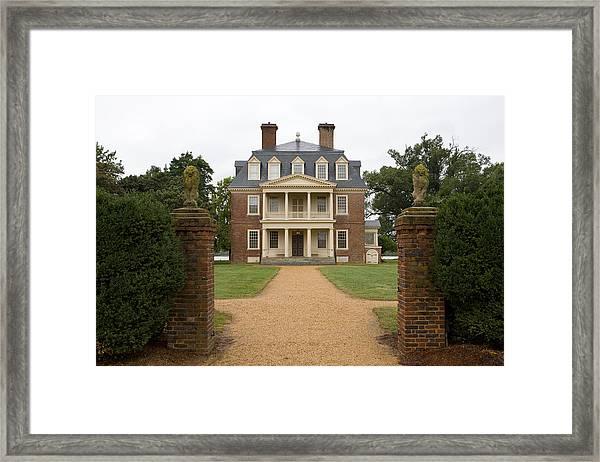 Shirley Plantation Framed Print