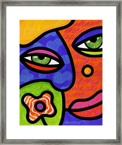 Shirley Whirly-gig Framed Print