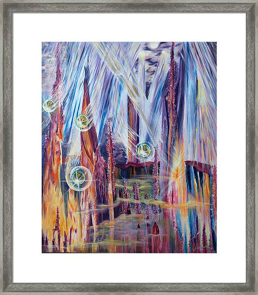 Shivuot- Receiving The Light From The Universe Framed Print