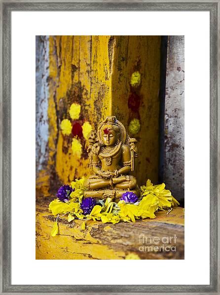 Shiva Devotion Framed Print