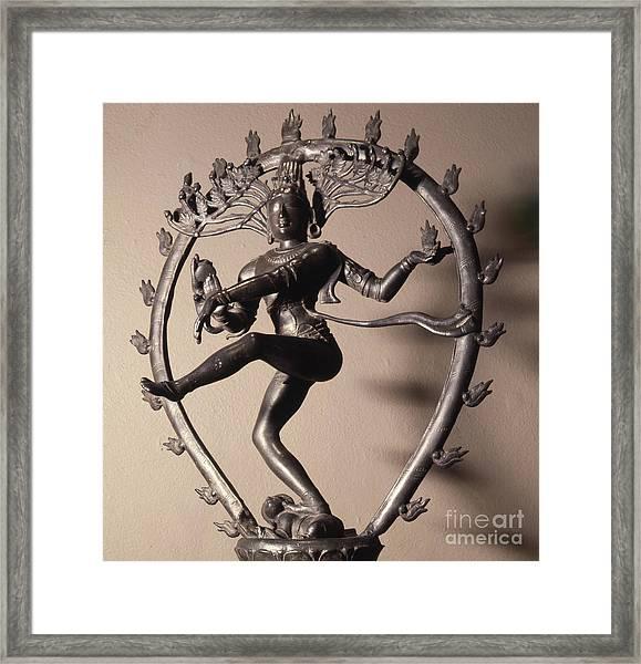 Shiva Nataraja As The Lord Of The Dance Framed Print