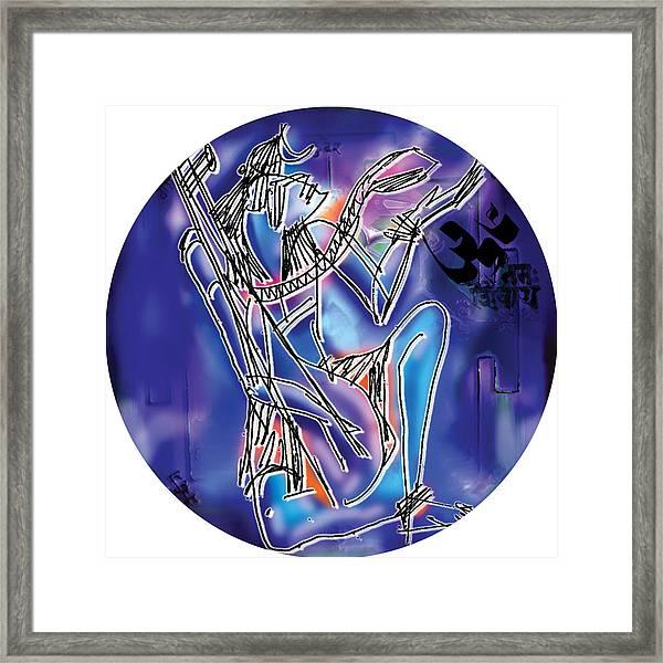 Shiva Playing Vina Framed Print