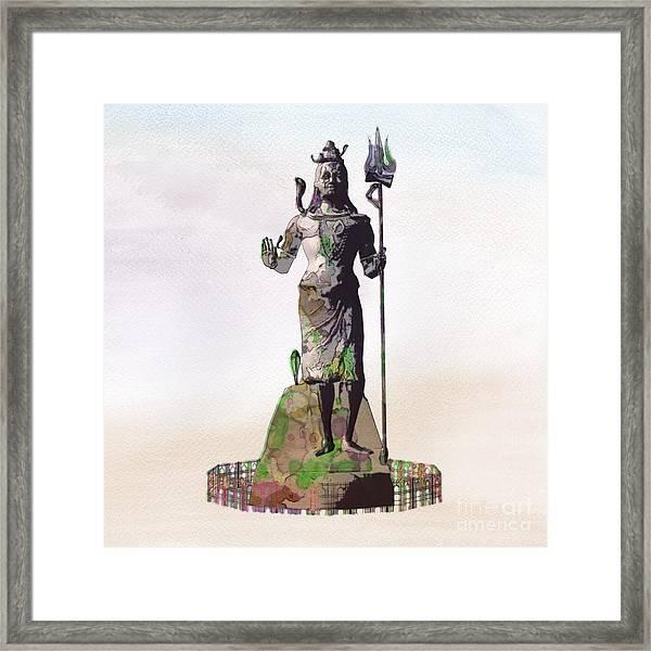 Shiva, Pop Art By Mary Bassett Framed Print