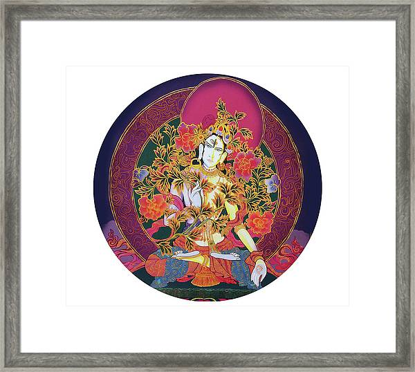 Shiva Shakti Yin And Yang Framed Print