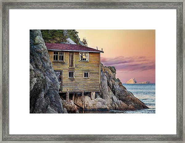 Shoe Cove Sunset Framed Print