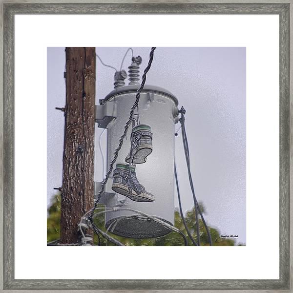 Shoefiti 10145 Framed Print